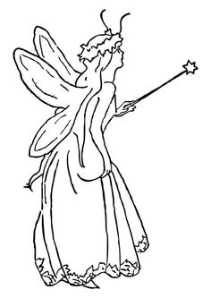 Coloring page fairy - coloring picture fairy. Free coloring sheets to print and download. Images for schools and education - teaching materials. Img 10194.