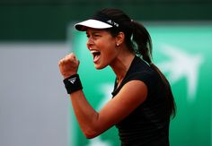 Ana Ivanovic Photos Photos - Ana Ivanovic of Serbia celebrates match point during her Women's Singles match against Misaki Doi of Japan during day four of the 2015 French Open at Roland Garros on May 27, 2015 in Paris, France. - 2015 French Open - Day Four