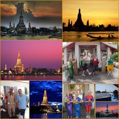 Wat Arun - .. temple of Dawn ..    top 5 tourist places Bangkok on Chao Phraya River Tourist Places, Bangkok Thailand, Temples, Dawn, Tourism, River, Top, Painting, Turismo