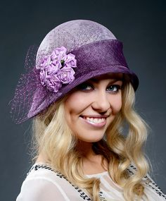 Cute lilac vintage romantic cloche hat for Derby by MargeIilane