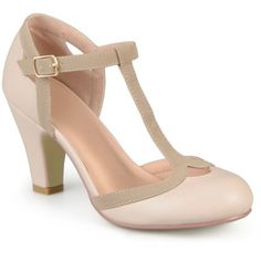 Women's Journee Collection Womens T-strap Mary Jane Pumps 6