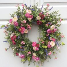 Garden Meadow Wreath-Spring Wreath-Spring Door Wreath-Summer Wreaths-Easter Wreath-Cottage Chic Wreath-Designer Wreath-Wedding Wreaths