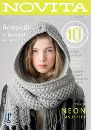 novita lehti - Google-haku Crochet Patterns, Crochet Ideas, Knit Crochet, Scarves, Neon, Knitting, Cowls, Knits, Magazines