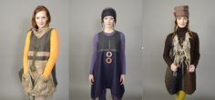 fall winter 2015  tunic dresses aka vests - fabric collage