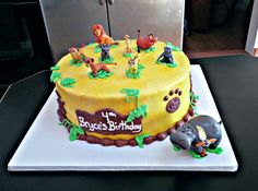 Lion guard birthday cake
