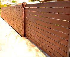 Harwell Fencing & Gates - Santa Monica, CA, United States. Automatic driveway gate - horizontal