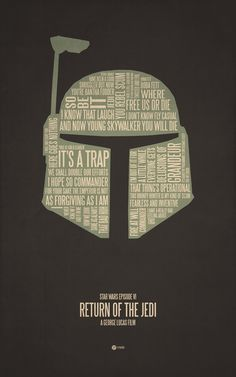 Star Wars Typography Poster by Jerod Gibson -- Return of the Jedi Best Movie Posters, Minimal Movie Posters, Star Wars Room, Star Wars Art, Images Star Wars, Films Cinema, Cinema Posters, Typographic Poster, Alternative Movie Posters