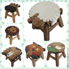 Купить Стул детский - табурет, табуретка, детская, детская мебель, детская мебель с росписью