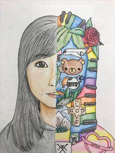 Drawing Art Lessons Middle School Self Portraits Ideas Self Portrait Art, Middle School Art Projects, 7th Grade Art, Beginner Art, Drawing Projects, Art Lessons Elementary, Art Abstrait, Art Lesson Plans, Art Classroom