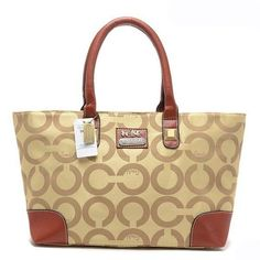 Look Here! Coach Madison In Signature Large Khaki Totes AQJ Outlet Online