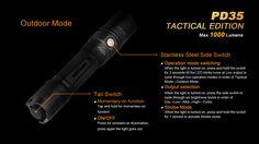 Fenix Flashlight PD35 Tac - Chi-Town Tactical