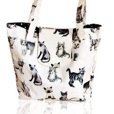 Shoulder bag, cat bag, vegan bag, everyday bag, oilcloth tote, market bag, handbag, ladies bag, wet bag, beach bag, wife gift by myuniquecolours on Etsy https://www.etsy.com/listing/516931965/shoulder-bag-cat-bag-vegan-bag-everyday