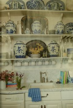 Love the blue and white jars