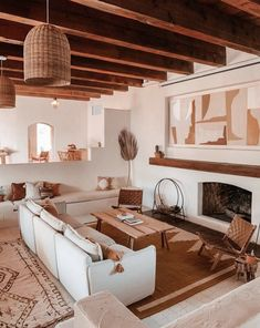 34 Beautiful Living Room Ideas With Neutral Colors - SearcHomee Interior Design Living Room, Living Room Designs, Bohemian Interior Design, Beautiful Interior Design, Spanish Interior, Spanish Style Interiors, Beautiful Living Rooms, Style At Home, New Homes