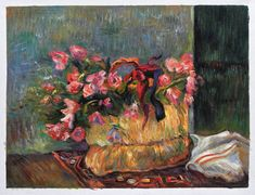 Basket of Flowers by Paul Gauguin