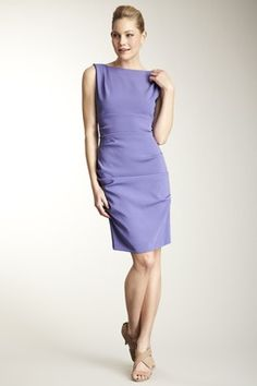 Ruched Satin Crepe Dress
