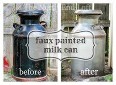 Rustic Milk Can Decor