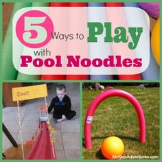 Pool noodles can inspire creativity and are lots of fun even on dry ground. You can use your noodle for games, toys and cool outdoor activities with your kids.
