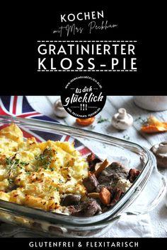 """Wie in Thüringen der Kloß ist in England der """"Pie"""" – ein überbackener Auflauf mit Gemüse, Pilzen oder Fleisch – ein beliebter Klassiker. Da liegt es für mich als Britin in Thüringen doch nahe, die beiden einfach mal miteinander bekannt zu machen."""