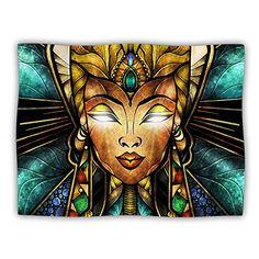Kess InHouse Kess InHouse Mandie Manzano Nefertari Teal Tan Pet Blanket 50 x 60 >>> More info could be found at the image url.