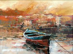 Branko Dimitrijevic, Boat, Oil on canvas, 30x40cm, £330