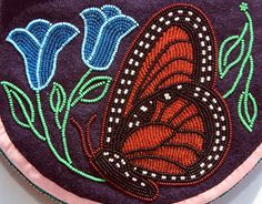 Beaded art inspired by traditional Southeastern Woodlands Native American Indian beadwork, including bandolier bags, moccasins, sashes, small purses and belts. Indian Beadwork, Native Beadwork, Native American Beadwork, Native Beading Patterns, Loom Patterns, Loom Craft, Beaded Moccasins, Native American Crafts, American Art