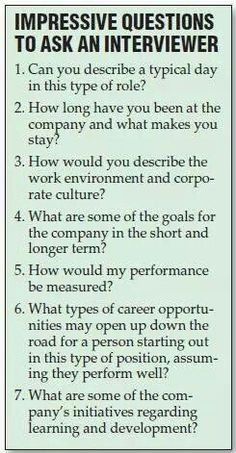 Questions for an interviewer...
