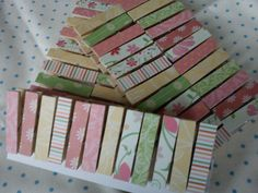 Mini Pegs Wedding Invitations Place settings by TheHomemadeHaven, £3.50