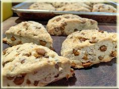 Wake up to cinnamon chips and dense, dreamy scones with this easy recipe featuring HERSHEY'S Cinnamon Chips. Tea Recipes, Sweet Recipes, Cookie Recipes, Dessert Recipes, Scone Recipes, Dessert Ideas, Breakfast Recipes, Hershey's Cinnamon Chips, Cinnamon Chip Scones