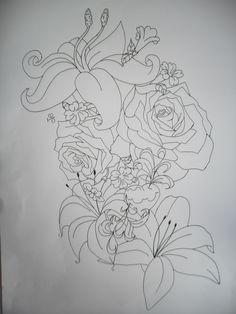 Flower Tattoo Design Lineart by tattoosuzette.dev … on - Flower Tattoo Designs Flower Outline Tattoo, Tattoo Outline Drawing, Flower Tattoo Drawings, Flower Tattoo Back, Flower Tattoo Shoulder, Outline Drawings, Flower Tattoo Designs, Flower Tattoos, Girly Tattoos
