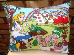 Alice in Wonderland  Vintage Disney Fabric by AlienCoutureUK, £49.99
