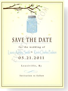 Mason Jar Save The Date by event123 on Etsy, $1.45