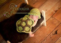 Turtle newborn set crochet pattern