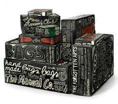 This packaging is all hand drawn on black with white. I think it is very clever with the use of typography i certainly is different. It gives us that organic, eco feel.
