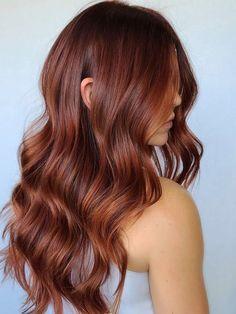 Hair Color Auburn, Hair Color For Black Hair, Red Hair Shades, Long Auburn Hair, Reddish Brown Hair, Scene Hair Colors, Trendy Hair Colors, Hot Hair Colors, Cheveux Oranges