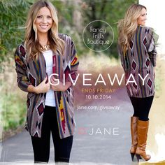 Good thing our Giveaway sponsor this week, Fancy Frills Boutique, has some of the most adorable Fall outfits you've ever seen, because it's getting cold outside! Could you use $100 to get some cold weather outfits? Enter here: http://vryjn.it/fancy-frills-pin