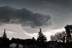 Early evening June 19th storm in Regina