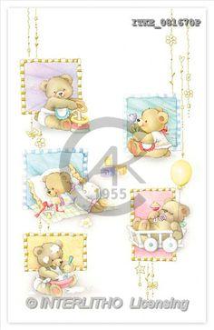 Isabella, BABIES, paintings, bear, balloon(ITKE081670,#B#) bébé, illustrations, pinturas