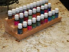 Essential Oil 3 Tier Rack by RackMyOils on Etsy Yl Oils, Doterra Oils, Essential Oil Storage, Essential Oils, Triangle, Essentials, Woodworking, Young Living, Unique Jewelry