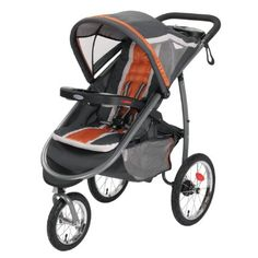 Amazon.com : Graco FastAction Fold Jogger Click Connect Stroller, Tangerine : Jogging Strollers : Baby