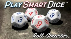"""Uniquely numbered dice system with games that emphasize hard to learn math sums and products. Build """"math fluency"""" while you play!"""