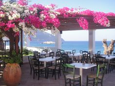 Greece-Karpathos-Cafe on the beach