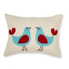 Love Birds throw pillow by Amity Home can be found at Cotton Cloud in Portland, OR.