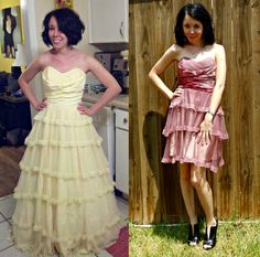 Upcycled wedding and formal dresses. There are always many of these at the thrift stores for dirt cheap.