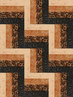 Nice rail fence quilt layout