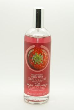 The Body Shop Body Mist, Strawberry, 3.3 Fluid Ounce by The Body Shop. $9.99. Light and fresh body mist made with fruit, nut and flower extracts. We have never tested our products on animals and we insist that all our suppliers have not tested their ingredients on animals for cosmetic purposes. We use community fair trade ingredients so you can feel confident with the quality of our products and this allows our suppliers to build better futures for themselves and their communit...