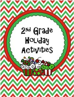 2nd Grade Holiday Activities! Math, Reading, L/A Common Core and MORE! Perfect for the holidays! Check it out now! :)