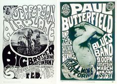 Psychedelic rock posters by Wes Wilson