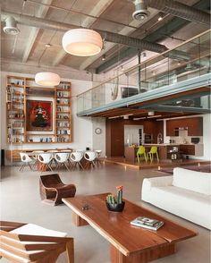 Home Interior Design — Contemporary loft apartment with an industrial. Home Interior Design, Interior Architecture, Interior Modern, Luxury Interior, Interior Ideas, Loft Stil, Sweet Home, Loft Interiors, Industrial House