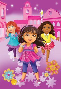 Amazon.com - Nick Jr Dora and Friends City Girls Micro Raschel Blanket, 62 by 90-Inch -